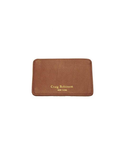 British Tan Card Wallet Front