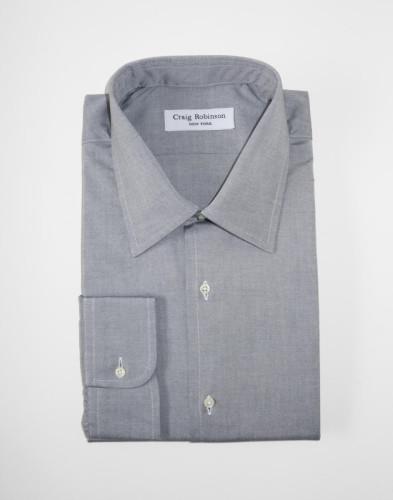 Robinson Brooklyn Standard Pinpoint Oxford Grey