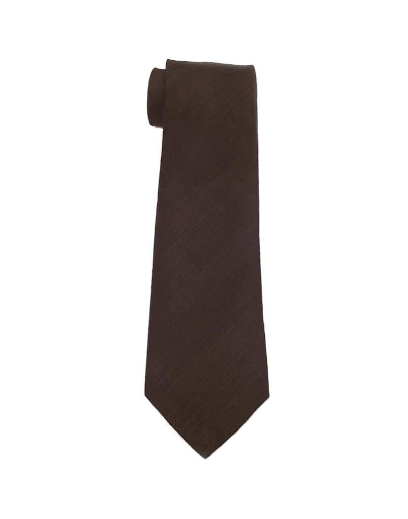 Black Raw Dupioni Handcrafted Tie