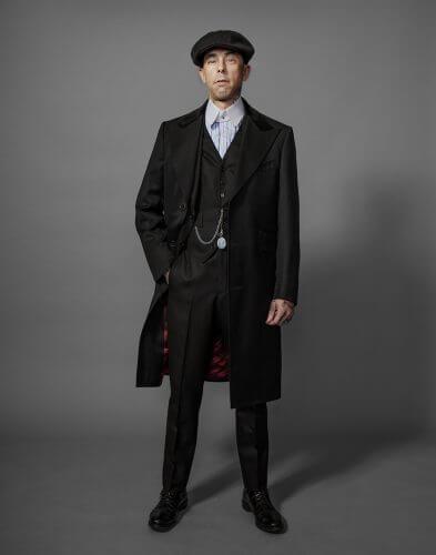 peaky blinders, newsie hat, topcoat, 3 piece suit, herringbone, Rock N roll Suits