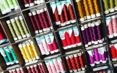 There are colors everywhere , silk button hole threads by@gutermannthread