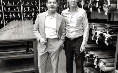 Very nice chatting with Rogelio this am @casa.cuesta Good knowledge of craft ,Great selection of Wools , canvas, and linings here in Mexico City in business 100 years