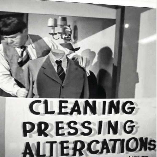 Tailor Shop of The Three Stooges , this is a good reason not to do alterations on outside garments